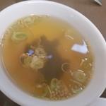丸宝食堂 - 定食のスープ