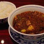 110348519 - 麻婆豆腐、ライス