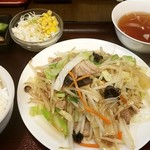 創作中華 秀荘 - 肉野菜炒め定食:850円