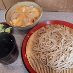 甲斐そば - 親子丼セット・もりそば(540円)