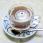 チャイハナ  - ドリンク写真:ベトナムコーヒー(上の電燈が映りこんでしまった)