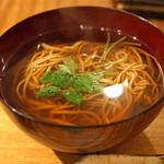 東白庵かりべ - 天ぷらそば の蕎麦