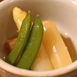 東白庵かりべ - ホワイトアスパラガスの煮びたし