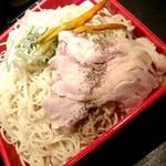 110381586 - 鶏塩レタスつけ麺 大盛りにしたらかなりの量になったよ(´V`)♪