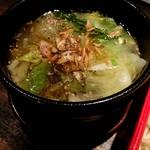 110381588 - 鶏塩レタスつけ麺 つけ汁