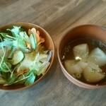 110390006 - うさぎやランチ(サラダとスープ)