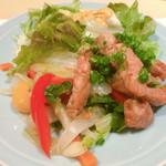 割烹 大田川 - あまり見ないタイプの生姜焼き