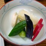 ぽん太 - ロースソテー定食のお新香