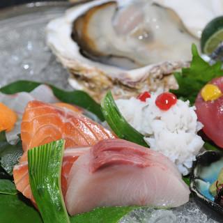◇漁港直送◇鮮度抜群の魚介類を和洋それぞれの逸品へ。