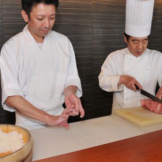 3人の料理人で織りなす<本格和食×本格洋食×創作和食>