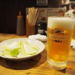 かわ屋 - 生ビールとキャベツ