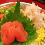 北海道料理 ユック - ◆漬け三色丼 850円(鮭・蟹・たらこ) ※数量限定