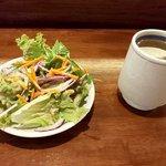ZEUSのかくれ家 - サラダとカップスープ