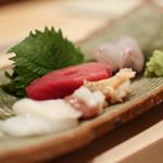 鮨 さわ田 - 北海蛸、中とろ、バイ貝、コチ☆