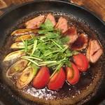板蕎麦 山灯香 - 合鴨と季節野菜のすき焼き(コース)