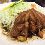 110419894 - 大トンテキ定食  ¥1,725    この濃い味が良いっ!