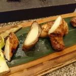 110421062 - 唯一あった料理 真菰竹の豚肉巻き 1000円位