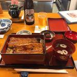 神田きくかわ - 料理写真:鰻一匹分の鰻重(イ)。こんな感じです。