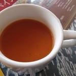 110425809 - トマトスープ。インドらしくスパイシー。
