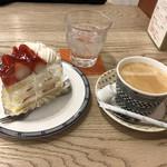 寸心 - プレミアム苺ショート❤️&ホットコーヒーで 580円❣️