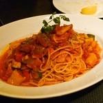 11045136 - 彩り野菜のトマトスパゲッティ