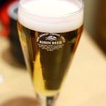 北辰鮨 - ランチビール