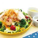 福岡薬院 タニタ食堂 - 【明太子レモンバターパスタのサラダボウル】一日に必要な野菜の約8割がとれる!