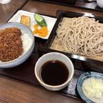 大村支店 - ソースひれかつ丼ご膳    1,000円 デザート無しの蕎麦普通盛り