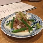 博多美食と日本酒 響喜 - カワハギの肝和え