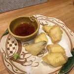 博多美食と日本酒 響喜 - 対馬穴子の天ぷら