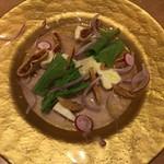 博多美食と日本酒 響喜 - カマンベールとドライ無花果
