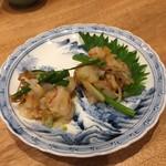 博多美食と日本酒 響喜 - 赤エビのコノワタ和え