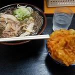 そば処 つる福 - 料理写真:冷たい肉そばミニとり天丼セット
