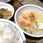 110479891 - たまごスープ、ザーサイ