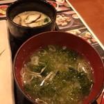 魚いち - 茶碗蒸しとあおさのお椀