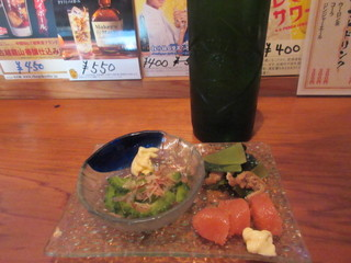居酒屋あんちゃん - 3品盛とハートランドビール