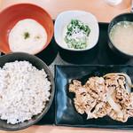 吉野家 - 料理写真:『牛皿麦とろ御膳』様(630円)