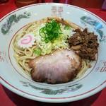カドヤ食堂 - 黒豚旨みそば(ミニライス付)