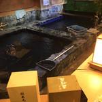 泳ぎいか・ふぐ・いわし・大阪懐石料理・遊食遊膳 笹庵 - 生簀だよー