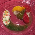 びいどろ - スペイン産 塩鱈とピーマンのマリネ