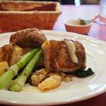 パリ4区 - 三元豚ロース肉のソテーとエビと活帆立貝のベニエ