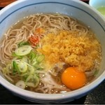 元気ダイニングヒライ東町店 - かけ蕎麦+生玉子