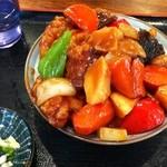 元気ダイニングヒライ東町店 - 酢豚 on ライス