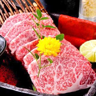 こだわりの特選肉を使用【A5ランク和牛と茨城県産ブランド豚】