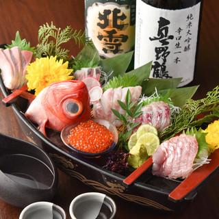 佐渡島公認の新潟料理の数々をご堪能くださいませ。