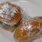 110521076 - ジャンボハンバーガーとホットドック