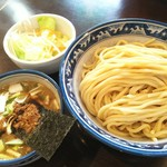 にぼshin. - つけめん(大盛400g)/トッピング(ネギ&野菜)