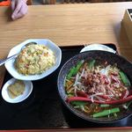 台湾料理 開源 - 料理写真:台湾ラーメン チャーハンセット 680円