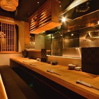 ◆デートや接待に-。目の前で揚げる天ぷらを五感で楽しむ♪