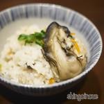 酒亭赤坂かねさく - 岩牡蠣(牡蠣飯)